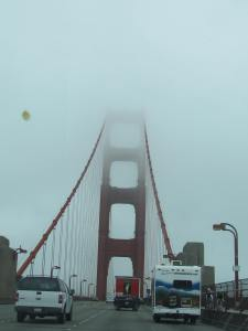 Even in cloudy weather, the Golden gate Bridge is beautiful