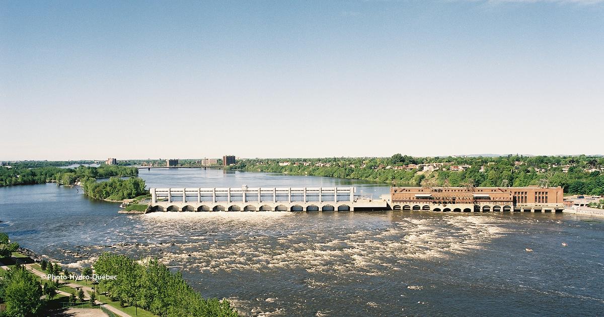 Hydro-Quebec Riviere des prairies dam